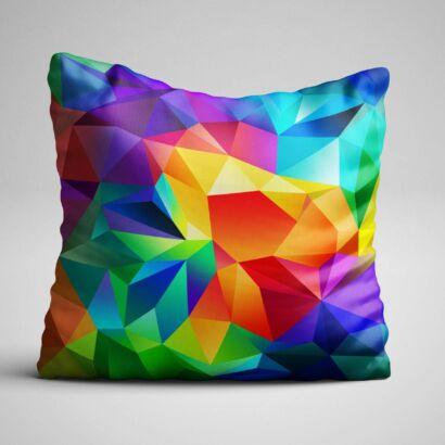 Cojín Abstracto Colores 3D