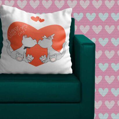 Cojín Animal San Valentín Perritos Diseño