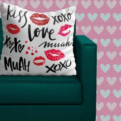 Cojín Enamorado Amor Hecho Besos