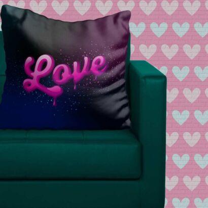 Cojín Enamorado Amor Rosa
