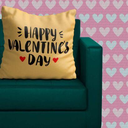 Cojín Enamorado Feliz San Valentín