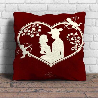 Cojín Enamorado Pareja Cupido