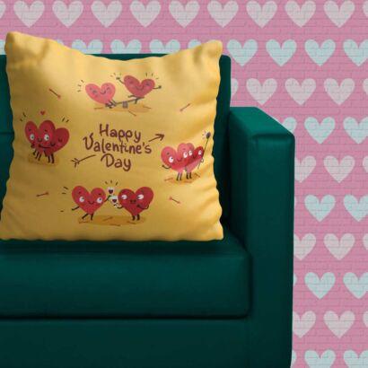Cojín Enamorado San Valentín Corazones