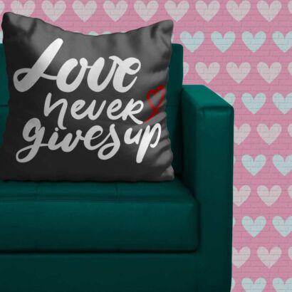 Cojín Frases El Amor Nunca Se Rinde