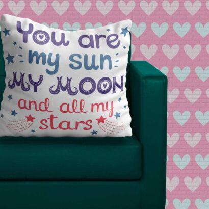 Cojín Frases Sol Luna y Estrellas