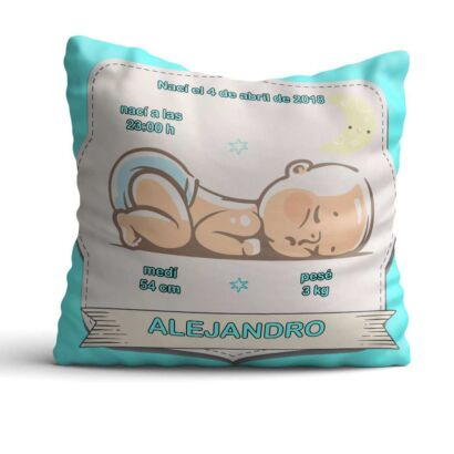 Cojín Infantil Bebé Recién Nacido Azul