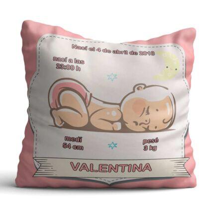 Cojín Infantil Bebé Recién Nacido Rosa