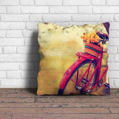 Cojín Vintage Bicicleta Rosa