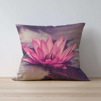 Cojín Zen Flor de Loto Rosa