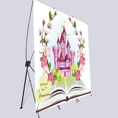 photocall flexible castillo flores