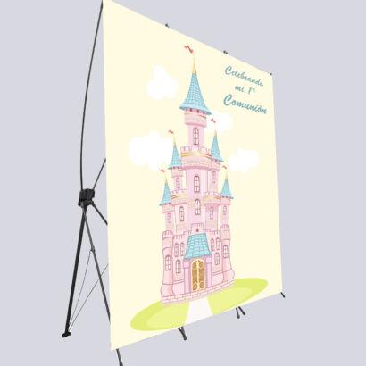 photocall flexible castillo comunion