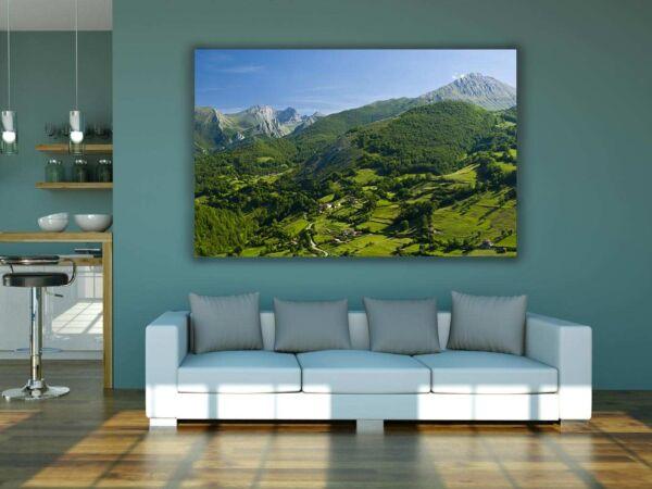 Cuadro PVC Prado Covadonga Asturias