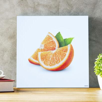 Cuadro en aluminio naranja