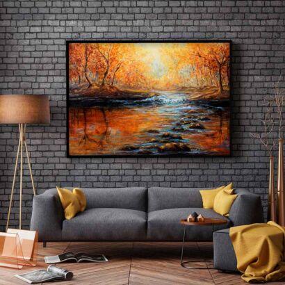 cuadro-bosque-otoño-atadecer-montaje