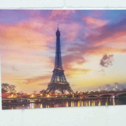 Cuadro Dibond Paisaje Torre Eiffel Atardecer