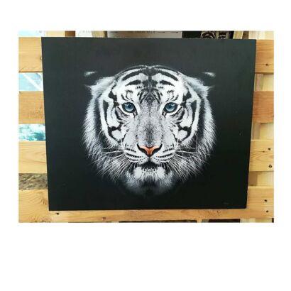 Cuadro Dibond Tigre Blanco Negro