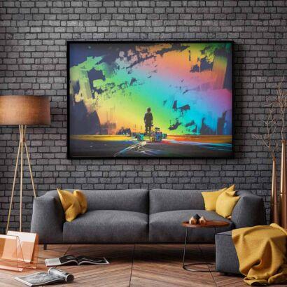 cuadro-pintura-pared-multicolor-montaje