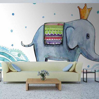 Papel Pintado Elefante Rey