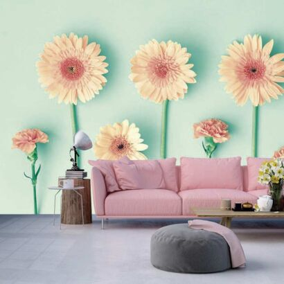 Papel Pintado Flores Margaritas