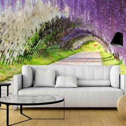 Papel Pintado Flores Moradas