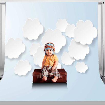 Fondo Fotográfico 3D Nubes Papel