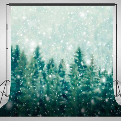 Fondo Fotográfico Bosque Copos de Nieve
