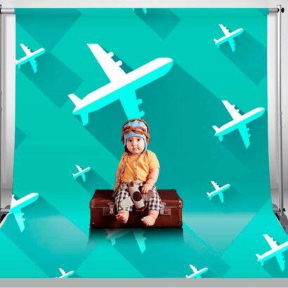 Fondo Fotográfico Infantil Aviones