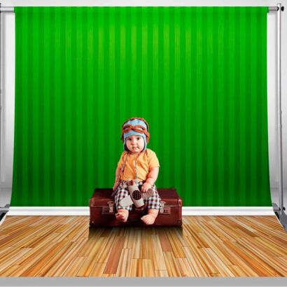 Fondo Fotográfico Líneas Verdes Parquet
