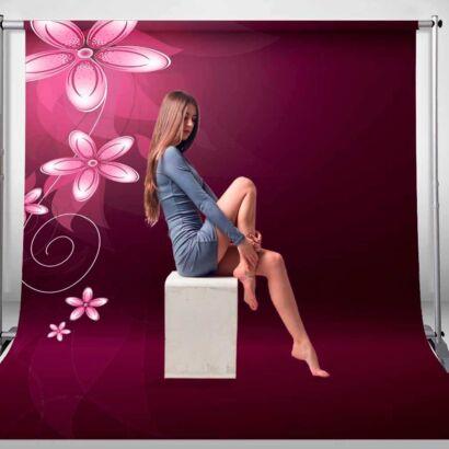 Fondo Fotográfico Textura Flores Violeta