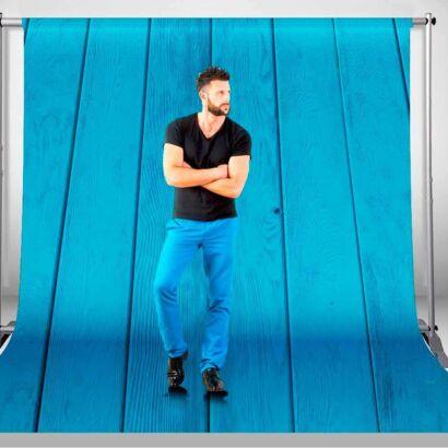Fondo Fotográfico Textura Madera Azul