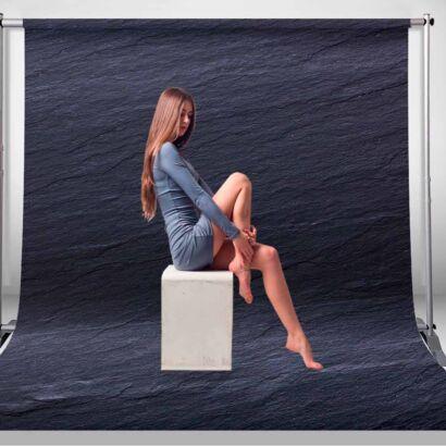 Fondo Fotográfico Textura Pizarra Negro