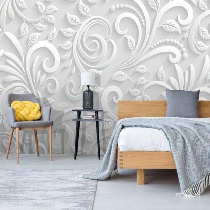 fotomural-flores-blancas-diseño-dormitorio
