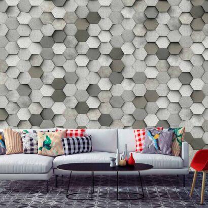 fotomural-hexagonos-tonos-grises-fotomural