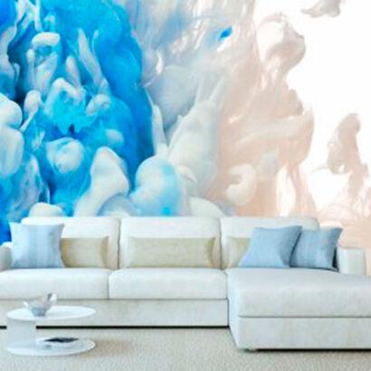 fotomural-humo-blanco-y-azul