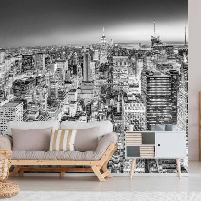 Fotomural Manhattan Blanco y Negro