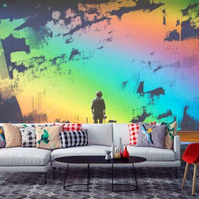 fotomural-niño-pinturas-multicolor-fotomural