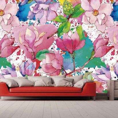 Papel Pintado Acuarela Floral