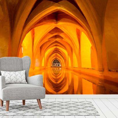 fotomural papel pintado arcos goticos