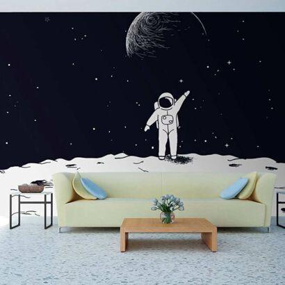 Fotomural Papel Pintado Astronauta en la Luna