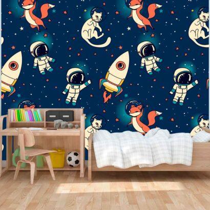 fotomural papel pintado astronautas