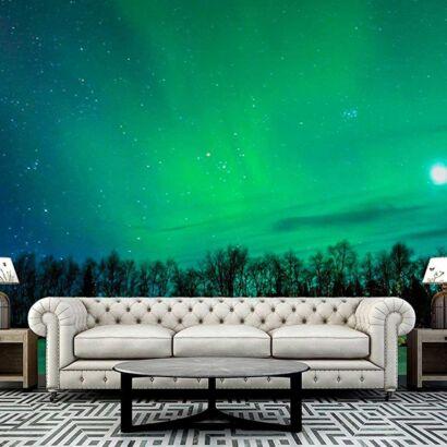 fotomural papel pintado aurora boreal
