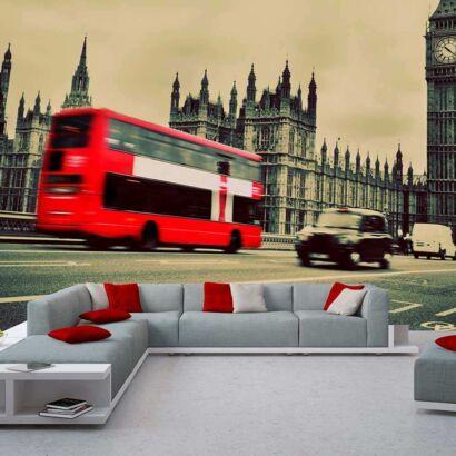 fotomural papel pintado autobuses y big ben londres