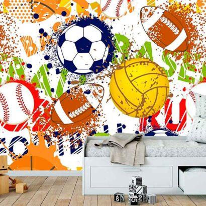 Fotomural Papel Pintado Balones Deportes