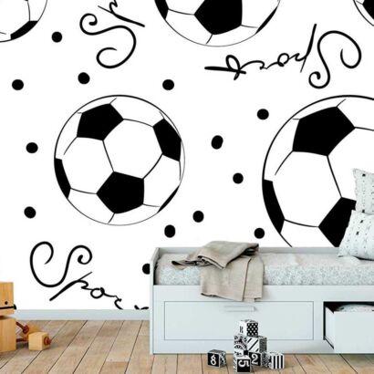 Fotomural Papel Pintado Balones Futbol