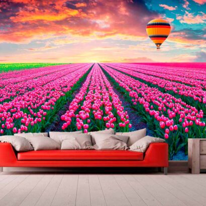 Papel Pintado Campo de Rosas
