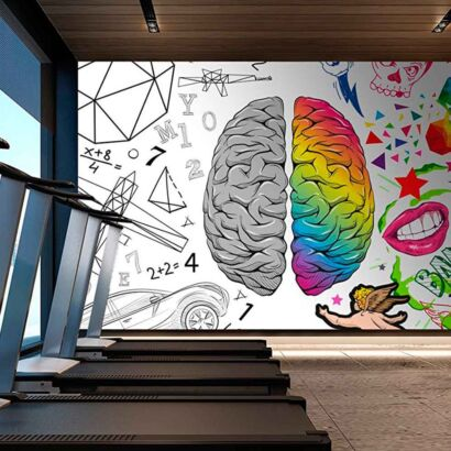 Fotomural Papel Pintado Comic Cerebro