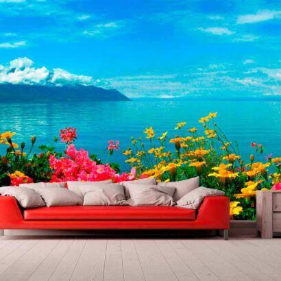 Papel Pintado Flores al Mar