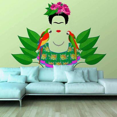 Papel Pintado Frida Kahlo Loros