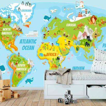 Papel Pintado Mapamundi Educativo