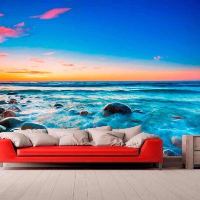 Papel Pintado Mar Atardecer